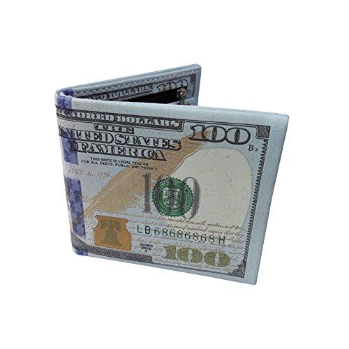 Dollar Bill Green - Men's New US 100 Dollar Bill Wallet PU Leather Credit Card Photo Holder Billfold