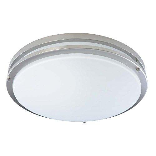 Good Earth Lighting Jordan 17-inch LED Flush Mount Light - Brushed Nickel ()