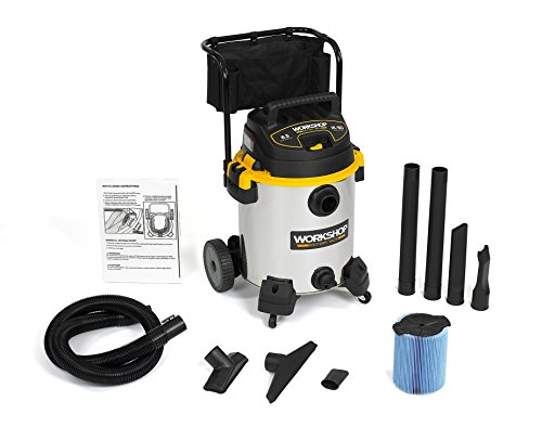 WORKSHOP Wet/Dry Vacs WS1600SS Stainless Steel 6.5-Peak Wet Dry Vacuum...