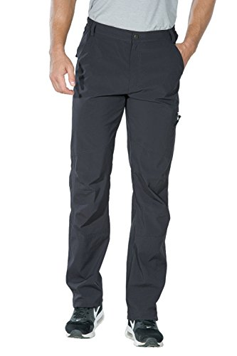 Mens Hiking Pants - Nonwe Men's Quick Dry Hiking Pants Gray S/32 Inseam