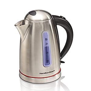 Hamilton Beach 40988 1.7 L Electric Kettle, Stainless Steel