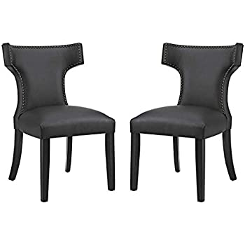Amazon Com Hawthorne Collections Faux Leather Dining