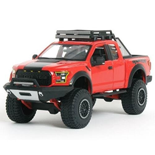 NEW 1:24 W/B MAISTO OFF-ROAD KINGS COLLECTION - RED 2017 FORD F-150 RAPTOR Diecast Model Car By Maisto