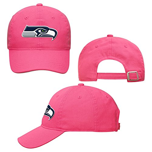 NFL Seattle Seahawks Girls 716 Slouch Adjustable Hat, Pink, 1 (Pink Seahawks)