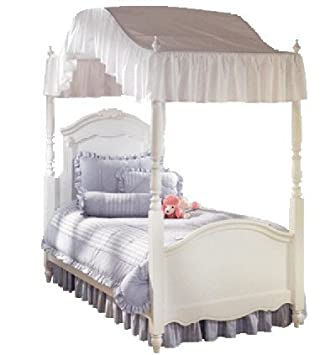 Amazon.com: Twin Size Ruffled White Canopy Top 200 Thread Count  Flat Or  Arch Style Canopy Made In The USA: Home U0026 Kitchen