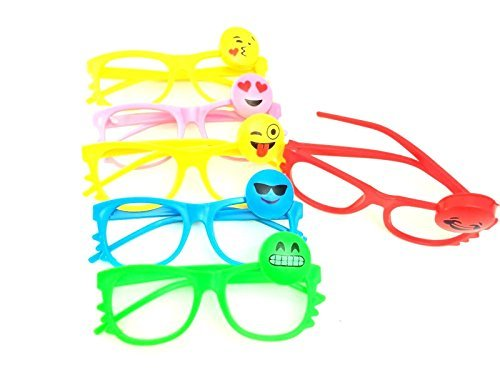 Rave Flashing LED Multi Color Happy Face Emotion Light Up Show Toy Sunglasses- 6 - Show Sunglass