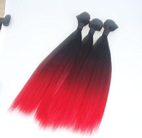 Tres colores de sombra de pelo sintético de color degradado ...