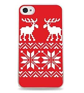Moose Pattern Christmas Apple iPhone 6 (4.7 inch) i6 Silicone Case - White - 508