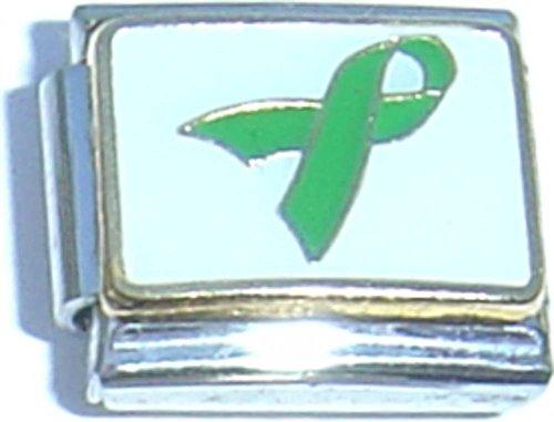 Green Ribbon Italian Charm - Green Ribbon Italian Charm