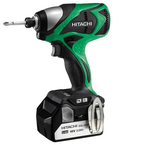 Hitachi WH18DBDL 18-Volt 3.0-Ah Cordless Brushless Lithium-Ion Impact Driver, With 2-Batteries and Charger (Discontinued by manufacturer)
