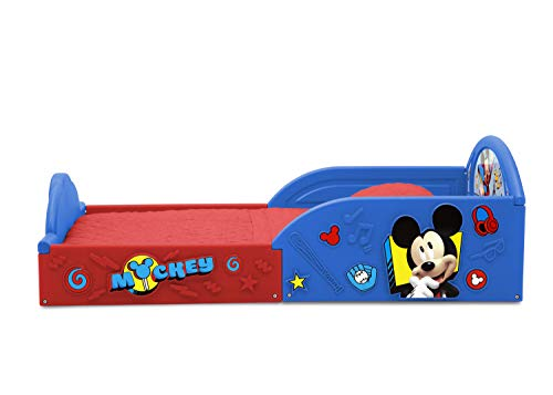 Disney Mickey Mouse Deluxe Toddler Bed with Attached Guardrails 5
