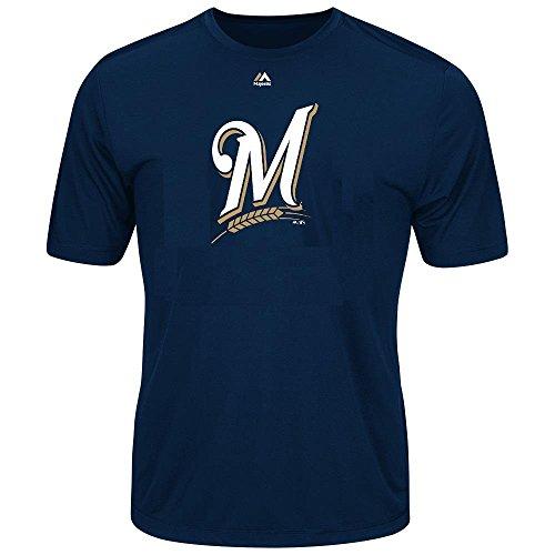 Youth MLB Geo Strike Cool Base Tee (Youth Xlarge 18/20, Milwaukee Brewers) (T-shirt Youth Strike)