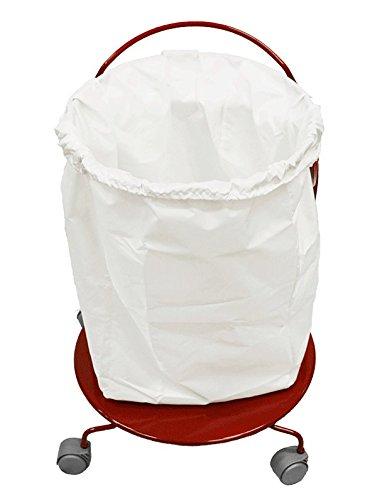 Spa Towel Hamper / Portable Commercial Laundry Hamper w/ wheels - Red