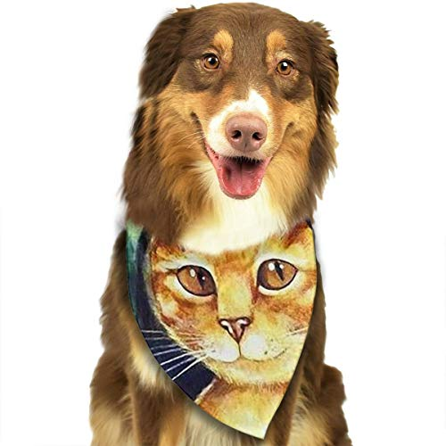 FRTSFLEE Dog Bandana Mona Lisa Cat Scarves Accessories Decoration for Pet Cats and Puppies ()