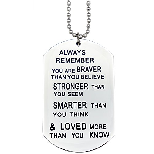 O.RIYA You Are Braver Than You Believe Necklaces / Keyring (White) by O.RIYA