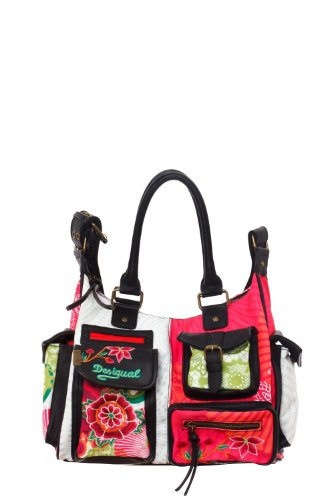 united states where to buy new arrive Desigual Bag London Floreada 41x5179/3001 Large Satchel Bag ...