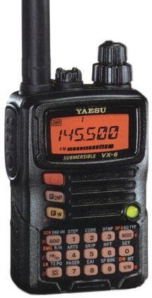 Tri-Band Yaesu VX-6R Submersible Amateur Ham Radio Transceiv