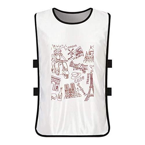 Eiffel Tower Louvre - DIYthinker France Triumphal Arch Louvre Eiffel Tower White Training Vest Jerseys Shirt Cloth
