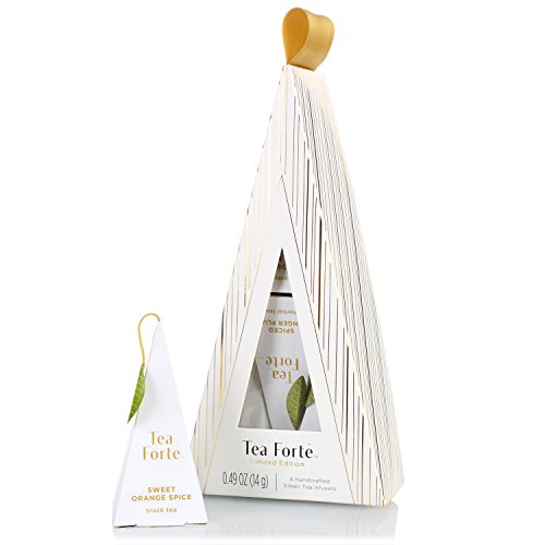 Tea Forte Warming Joy Petite Tea Tree (White and Gold) Gourmet Christmas Tea