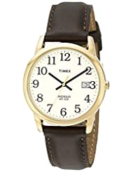 Timex® Men's Classic EZRead Stainless Steel Watch with Leather Band