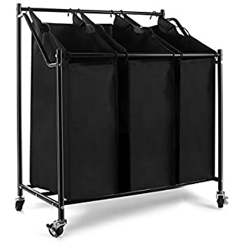Amazon Com Heavy Duty Laundry Sorter Cart Laundry Hamper