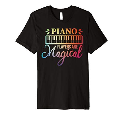 Magical Piano Player Rainbow, Student Learning Pianist Music Premium T-Shirt (Fool In The Rain Piano Sheet Music)