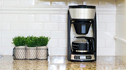 BUNN HB Heat N Brew Programmable Coffee Maker 10 cup Stainless Steel by BUNN (Image #3)