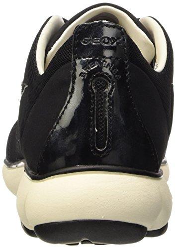 Geox D Nebula A - Zapatillas de deporte Mujer Schwarz (BLACKC9999)