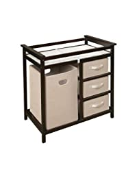 Badger Basket Modern Changing Table with Hamper - Espresso BOBEBE Online Baby Store From New York to Miami and Los Angeles