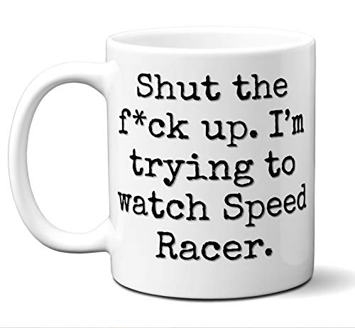 (Speed Racer Gift Mug. Funny Parody Movie Lover Fan