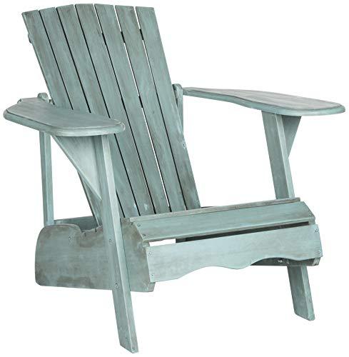 Safavieh Outdoor Collection Mopani Adirondack Chair, Beach House Blue