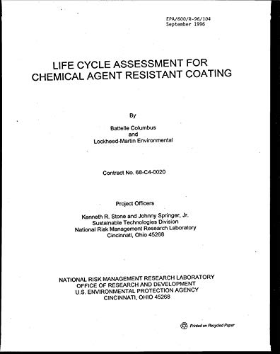 (Life Cycle Assessment for Chemical Agent Resistant Coating)