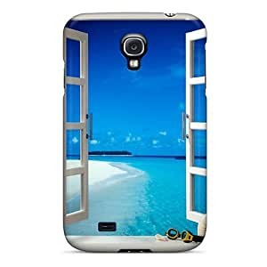 Cute Appearance Cover/tpu HlrAHjL5108bFYyk Window Case For Galaxy S4