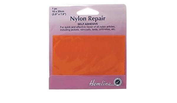 Hemline Self Adhesive Nylon Patch ORANGE 10 x 20cm Patch Repair Tents,Raincoats