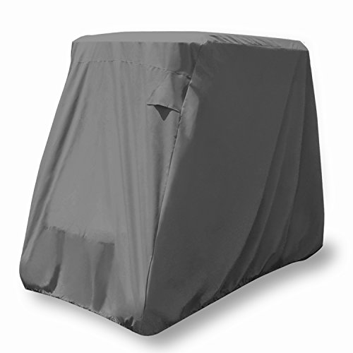 Ez Cart - KHOMO GEAR Golf Cart Cover - Titan Series - 4 Passenger Universal Storage Cover with Air Vents, Zipper and Elastic Hem