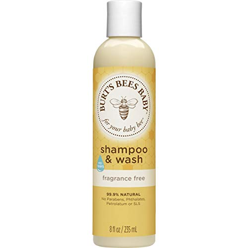 Burt's Bees Baby Shampoo & Wash, Fragrance Free & Tear Free Baby Soap - 8 Ounce Bottle