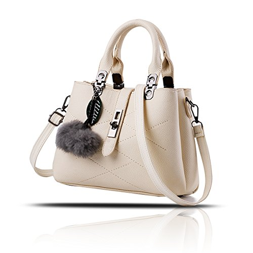 Beige Tisdaini Hair Bag Shoulder Hanging Ball Messenger Lychee Handbag Fashion Women's qBgwxqv7O