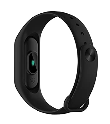 Large Screen Fitness Tracker Watch: Heart Rate Monitor Pedometer Caller ID Text Message Bluetooth for Apple iOS Android   iMCO CoBand K4 2017 Model