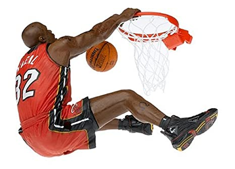 f26d306920a Amazon.com  McFarlane Toys NBA Series 8 Figure  Shaquille O Neal with Red  Heat Jersey  Toys   Games