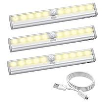 AMIR LED センサーライト 人感センサーライト 10個LED電球 USB...
