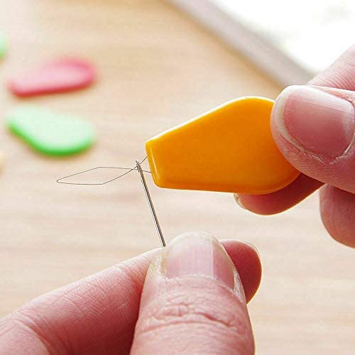Eugeneq 10Pcs//Set Needle Threader Bow Wire Stitch Insert Sewing Machines Tool