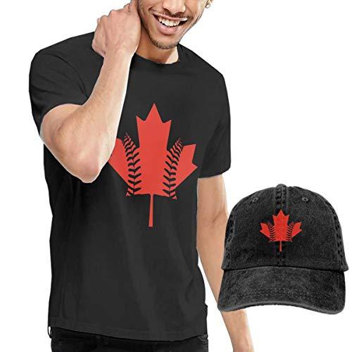Canada Maple Leaf Baseball Men's Short Sleeve T-Shirts & Baseball Caps Hats