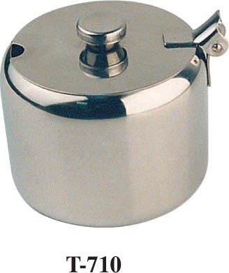 Winco T-710 Stainless Steel Sugar Can with Notched Cover, 10-Ounce