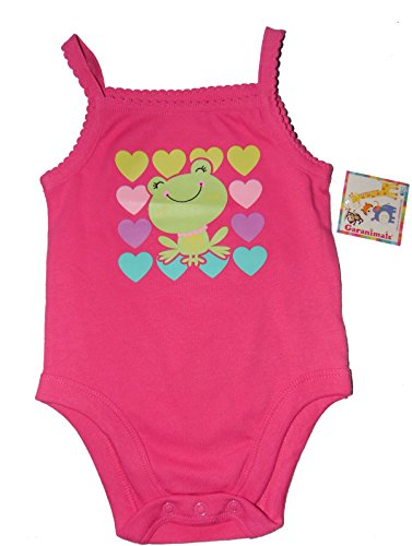 nd hearts Cami Camisole Spaghetti Strap Tank Top Baby Creeper Bodysuit (Newborn) (Heart Camisole)