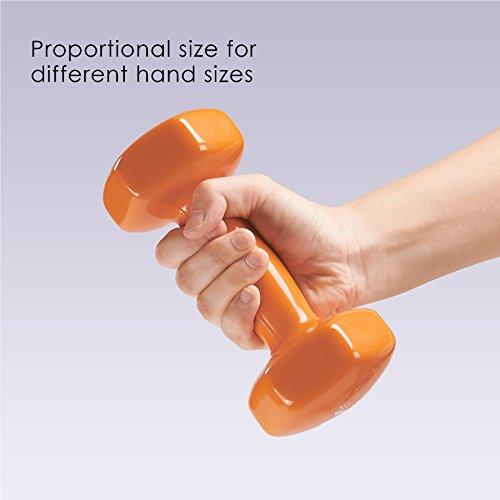 ZELUS Cast Iron Vinyl Coated Dumbbells Hand Weights for Women/Men Workout