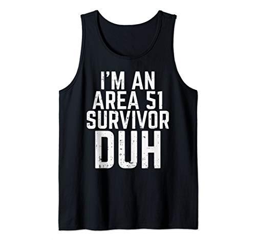 Survivor Costume Ideas (Im An Area 51 Survivor Duh Funny Easy Lazy Halloween Costume Tank)