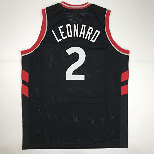 Unsigned Kawhi Leonard Toronto Black Custom Stitched Basketball Jersey Size Men's XL New No Brands/Logos