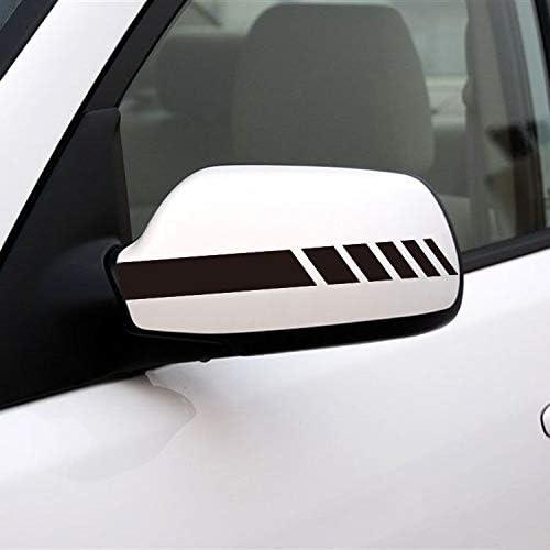 JIXIAN HOME Espejo retrovisor del coche Pegatinas de la raya Tire de las etiquetas engomadas de la flor Pegatinas del coche Pegatinas reflexivas del coche for instalar Suministros creativos for el aut: