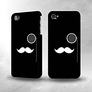 Apple iPhone 4 / 4S Case - The Best 3D Full Wrap iPhone Case - Sir Mustache Minimalism