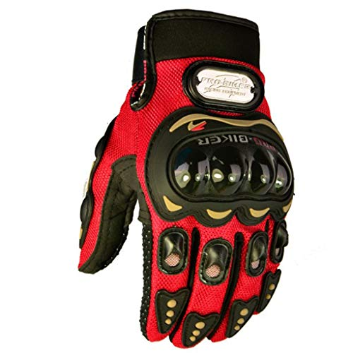 - DNSJB Motorcycle Riding Gloves Motorcycle Gloves Knight Motorcycle Gloves Shatter-Resistant Off-Road Gloves (Color : Red)